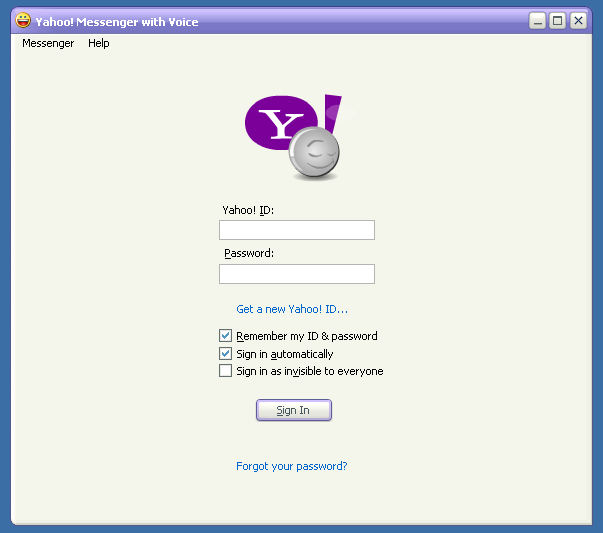 Updating yahoo messenger dating too fast